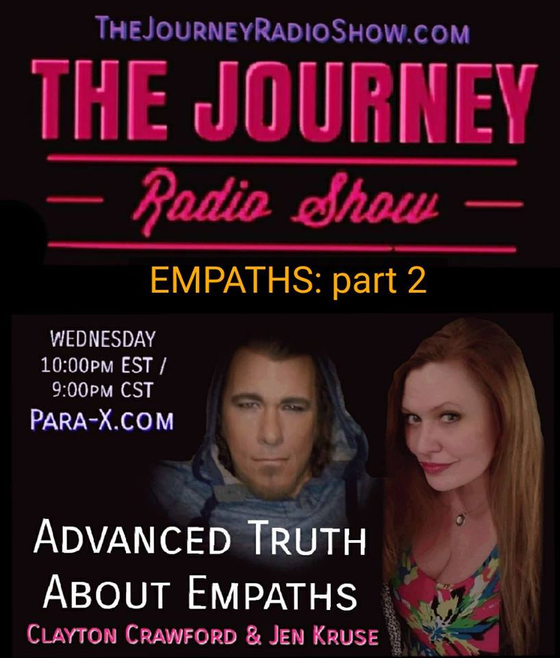 Empaths part 2 - Jen Kruse & Clayton Crawford on The Journey Radio Show - TheJourneyRadioShow.com